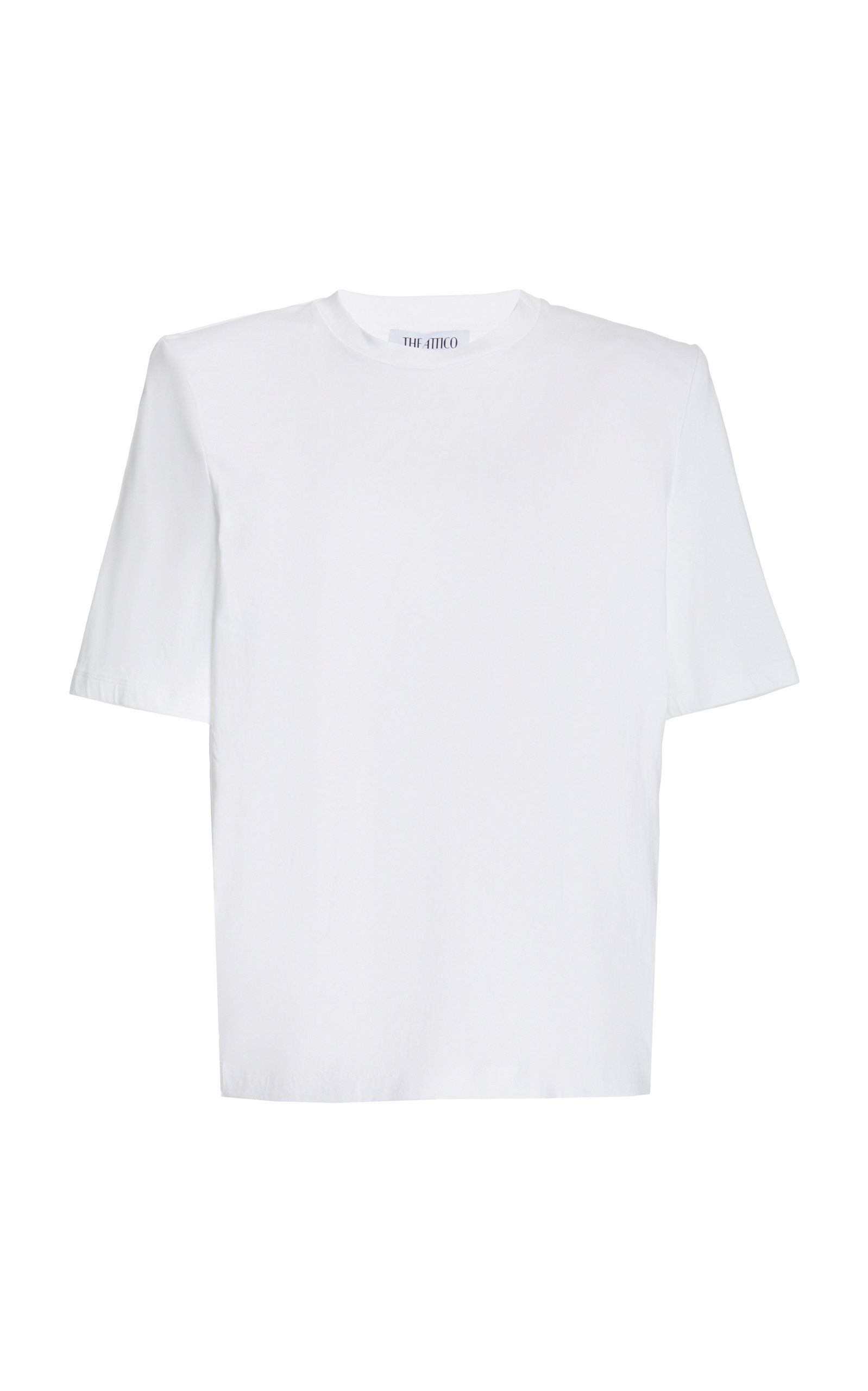ATTICO PADDED-SHOULDER JERSEY T-SHIRT