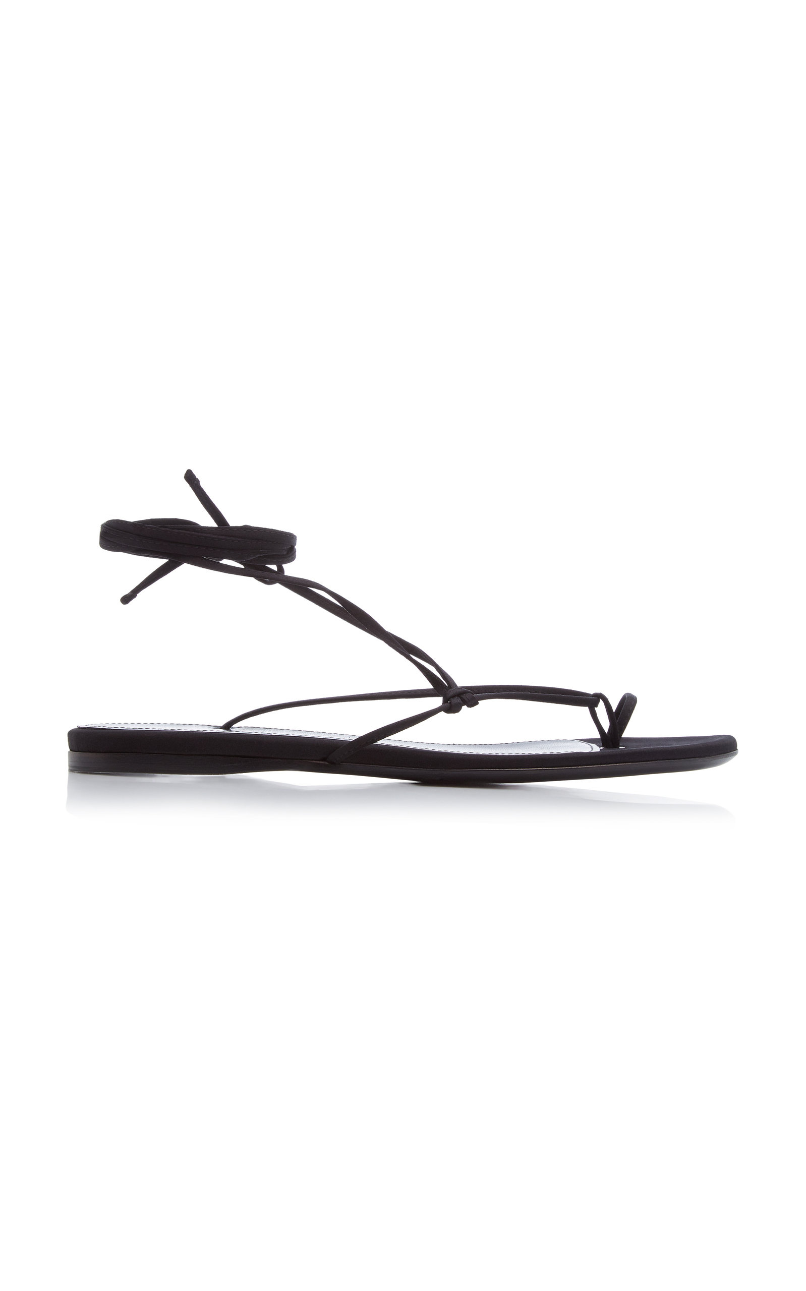Attico Lace-ups LACE-UP SATIN THONG SANDALS