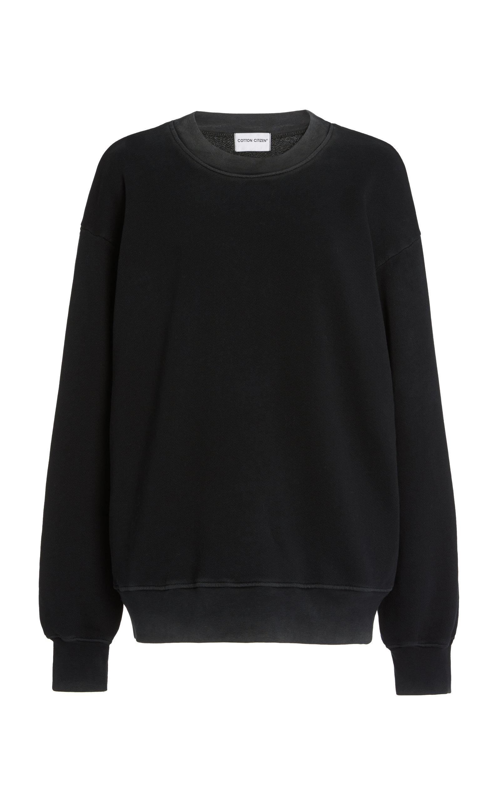 Cotton Citizen Women's The Brooklyn Oversized Washed Cotton Sweatshirt In Vintage Black