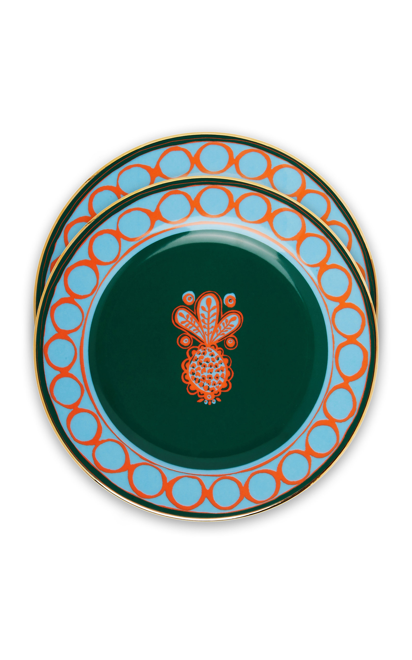 La Doublej Housewives Dessert Plates Set Of 2 In Multi