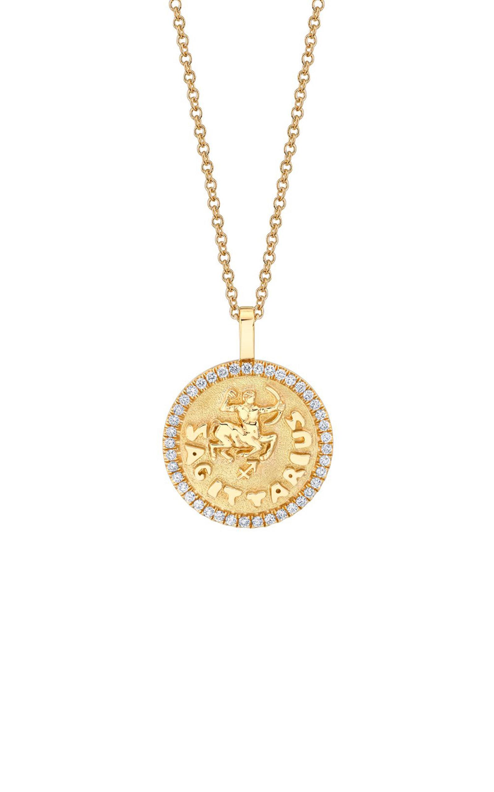 Anita Ko BESPOKE ZODIAC 18K YELLOW GOLD DIAMOND PENDANT AND ASTROLOGY READING