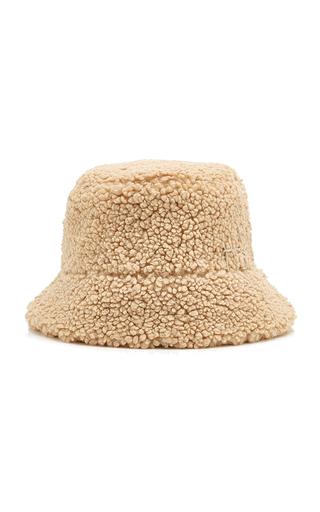 Ruslan Baginskiy Hats Women's Logo-embellished Faux Fur Bucket Hat In Neutral