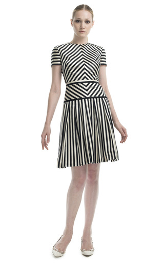 a4f39dbfe0 Geometric Striped Cocktail Dress by Valentino