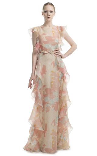 Medium valentino multi ruffle multicolor gown