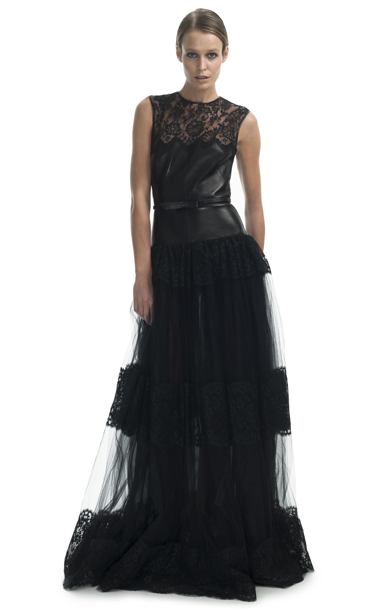 Leather Bodice Gown by Valentino | Moda Operandi
