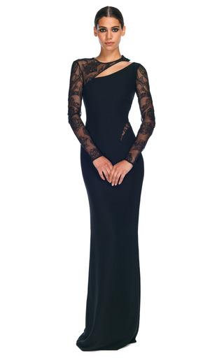 Medium versace black asymmetrical cut out evening gown 2