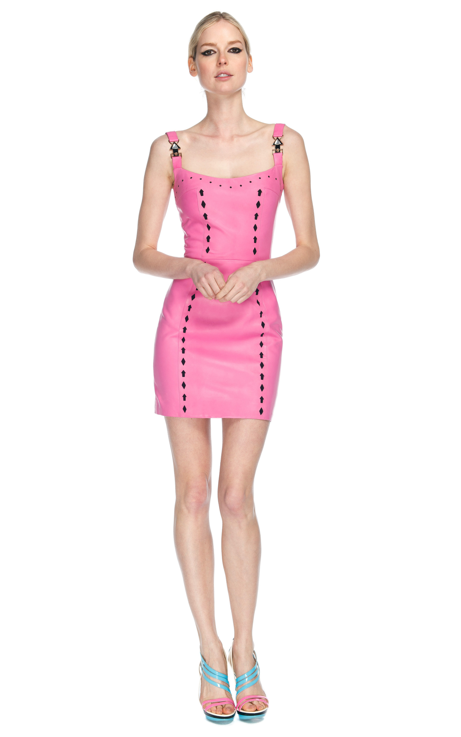 Pink Leather Dress By Versace Moda Operandi