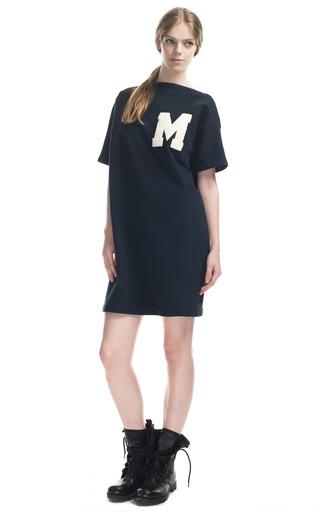 Medium msgm navy denim sweatshirt dress
