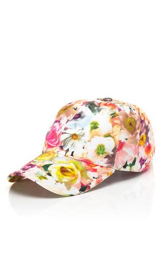 Medium msgm multi floral stamped baseball cap 2