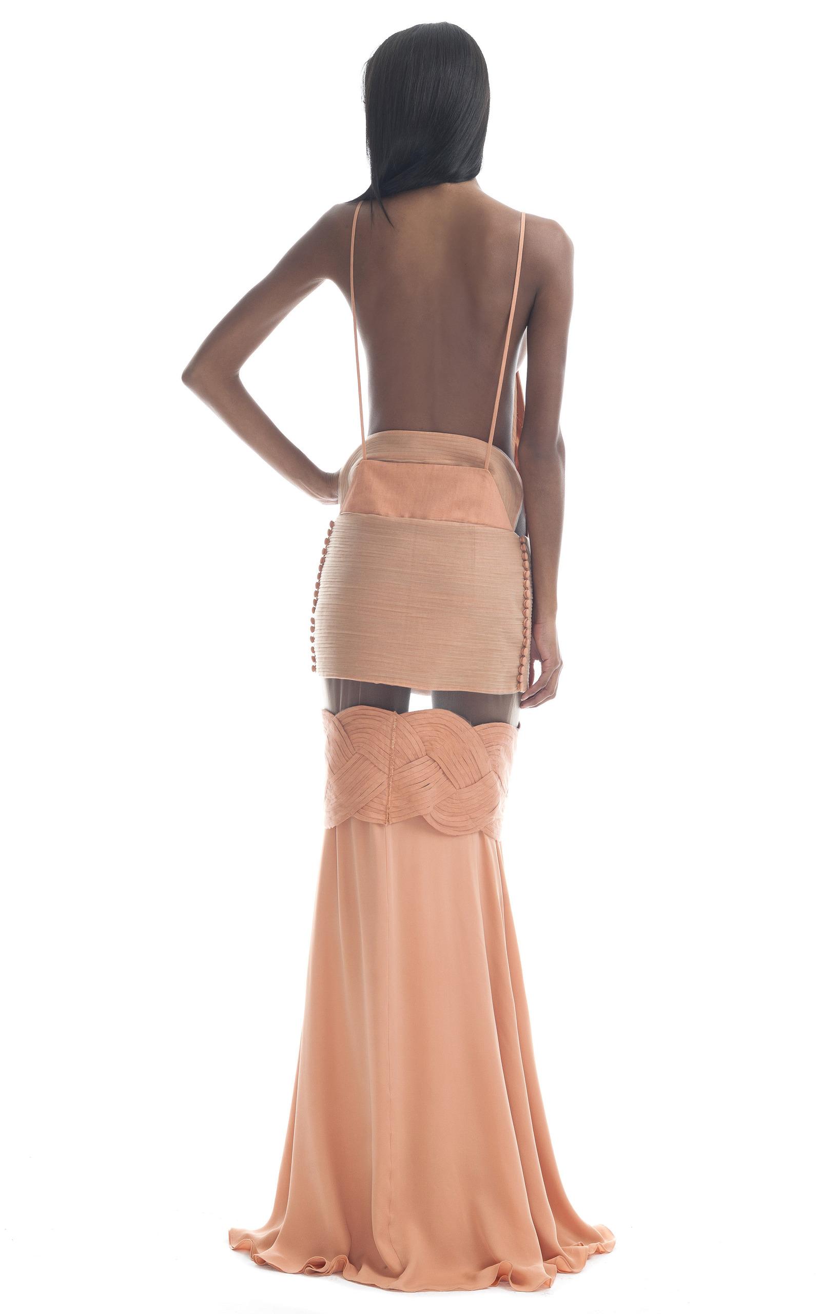 Bright Nude Illusion Gown By Paula Raia  Moda Operandi-3426