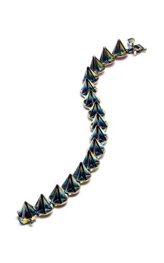 Medium eddie borgo pink lotus cone bracelet