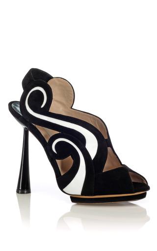 Medium nicholas kirkwood white cone heel slingback sandal
