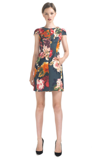 Cap Sleeve Floral Cocktail Dress by J. Mendel  Moda Operandi