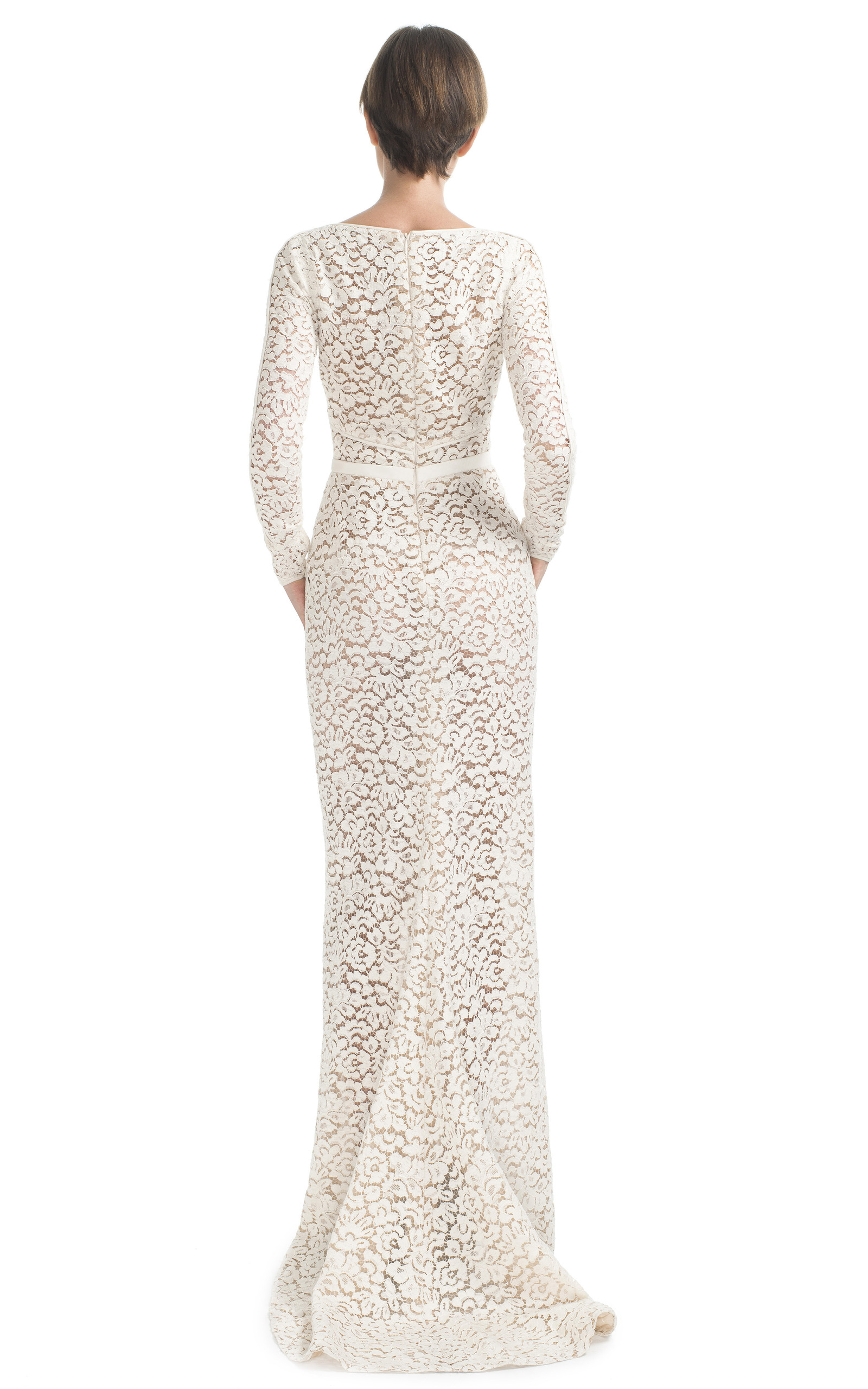Long Sleeve Lace Evening Gown by J. Mendel | Moda Operandi