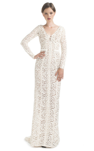 Long Sleeve Lace Evening Gown by J. Mendel | Moda Operandi