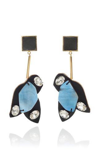 Medium marni blue powder blue puzzle piece earrings