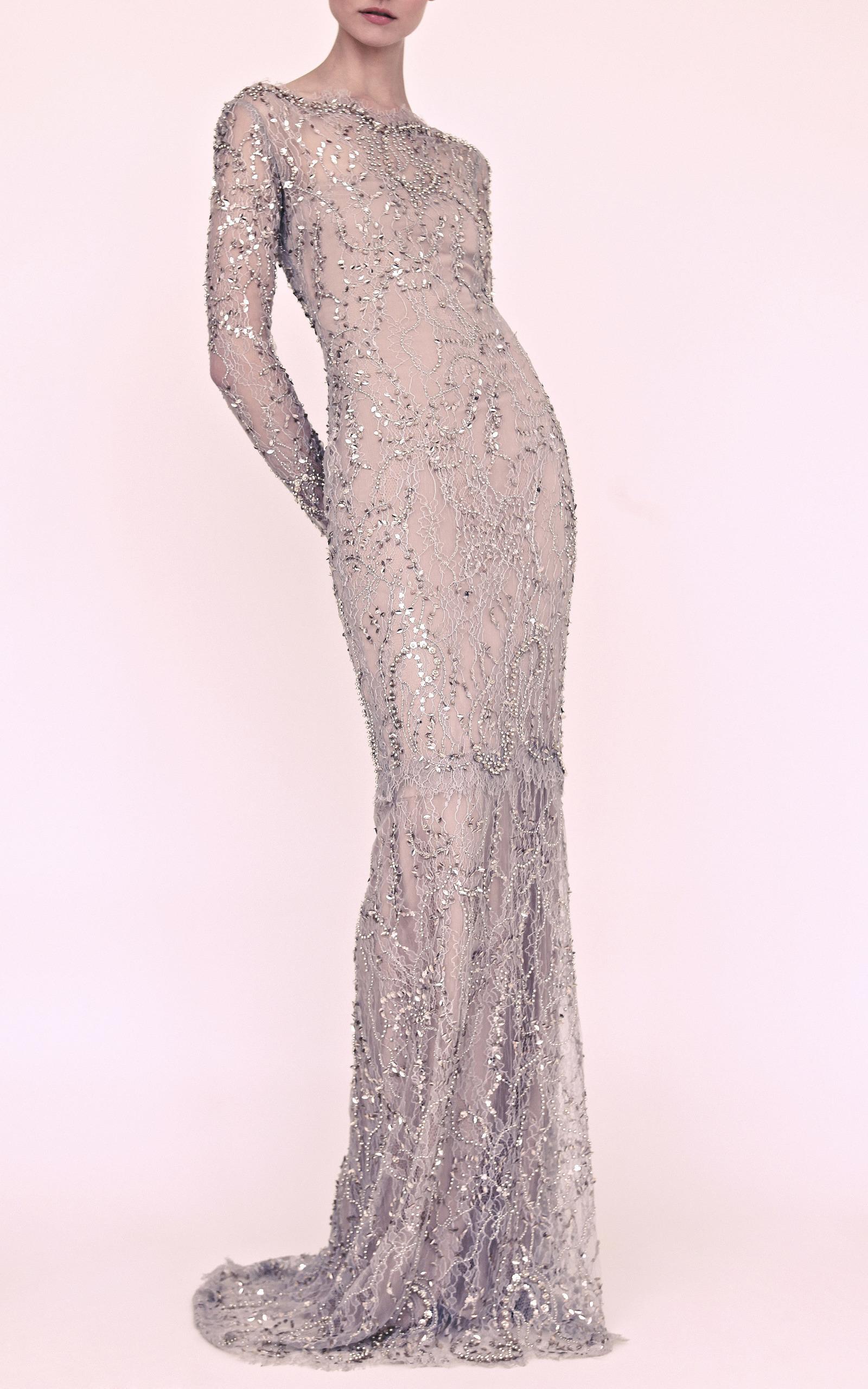 Beaded Lace Gown by Marchesa