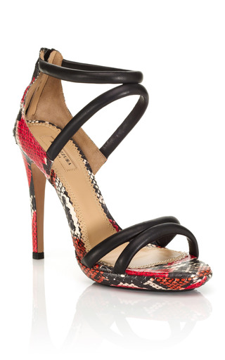 Medium aquazzura red cheetah strappy sandal