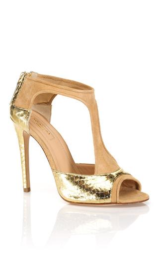 Medium aquazzura gold t amo sandal