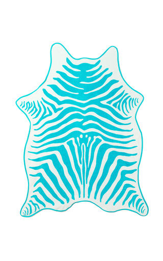 Medium maslin co turquoise turquoise zebra hide beach towel