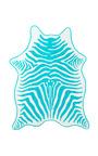 Turquoise Zebra Hide Beach Towel by MASLIN & CO for Preorder on Moda Operandi