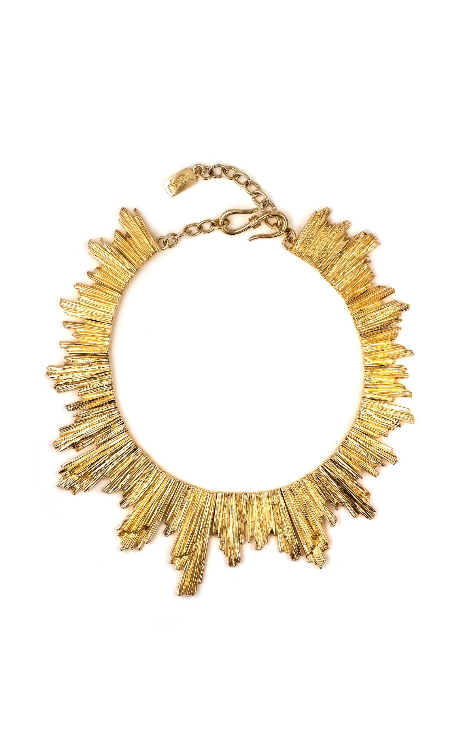 vintage necklace operandi o large ysl gold moda sun karry by other karryo
