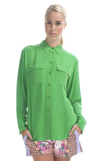 Medium equipment green signature blouse 5