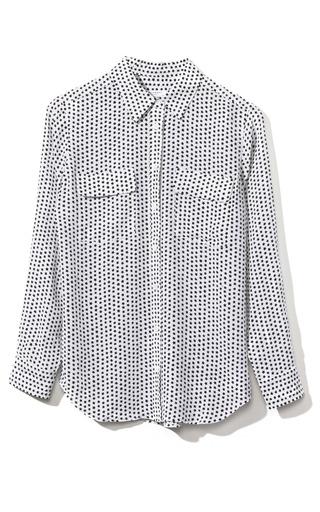 Medium equipment white slim signature blouse