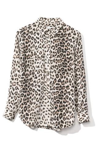 Medium equipment print slim signature blouse 3