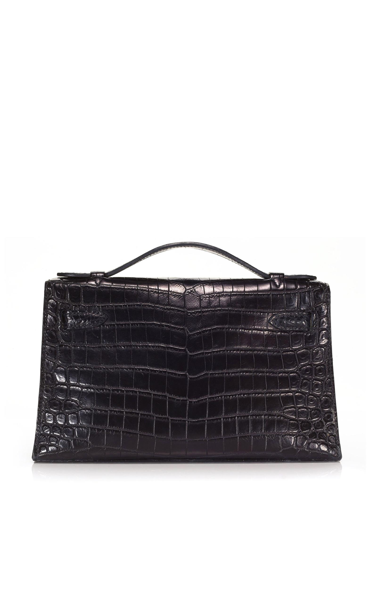 262391e998d1 ... france black matte nilo crocodile kelly pochette by hermès moda  operandi d4877 c536e ...
