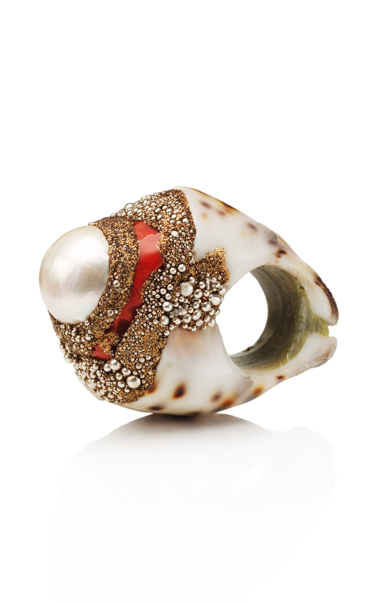 and rings products enlarged jewelry realreal diamond pomellato coral ring capri cocktail the