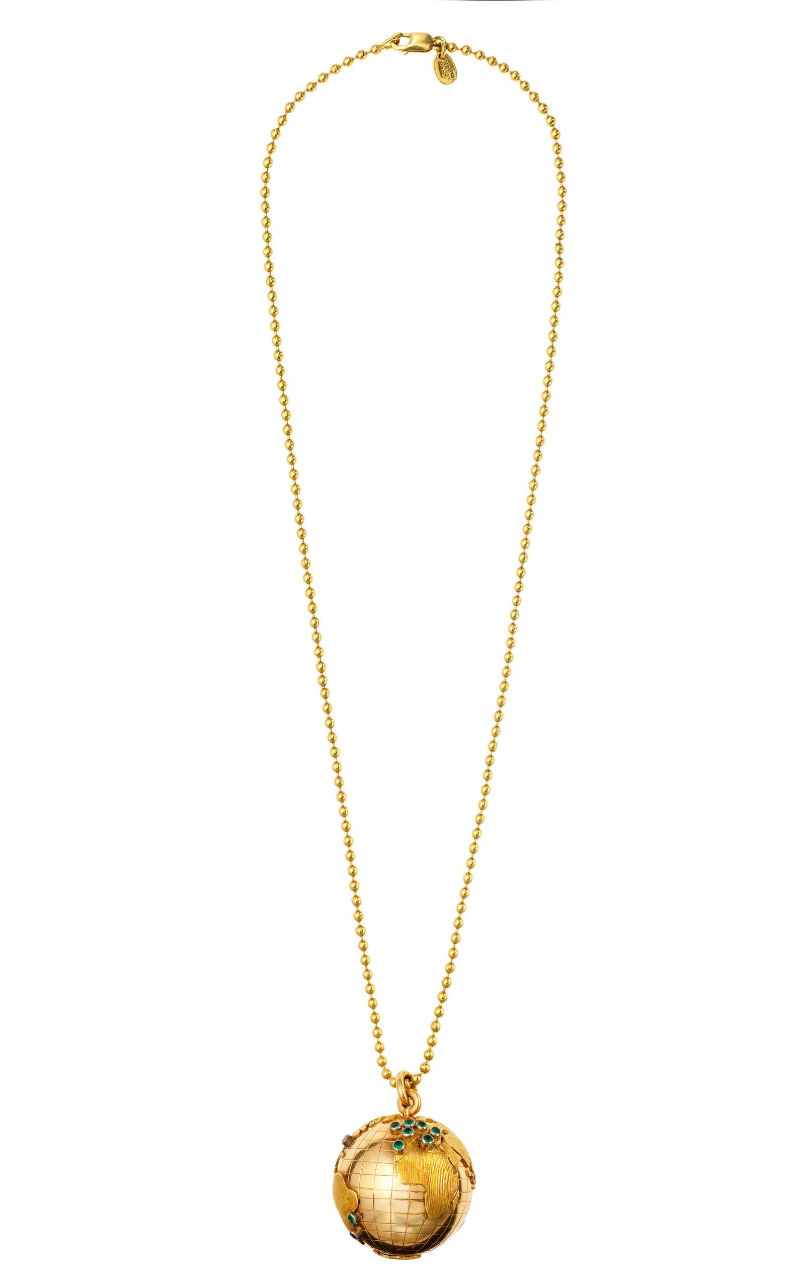 18k globe pendant necklace by tara compton moda operandi tara compton18k globe pendant necklace close loading aloadofball Choice Image