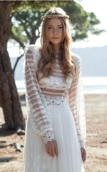 Costarellos Bridal Fall/Winter 2016 on Moda Operandi