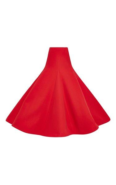 Cotton Crepe Gramophone Skirt