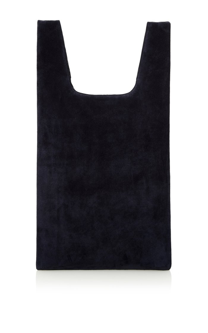 Navy Suede Hayward Shopper