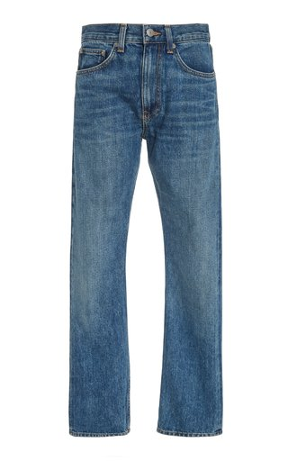 Wright High-Rise Straight-Leg Jeans
