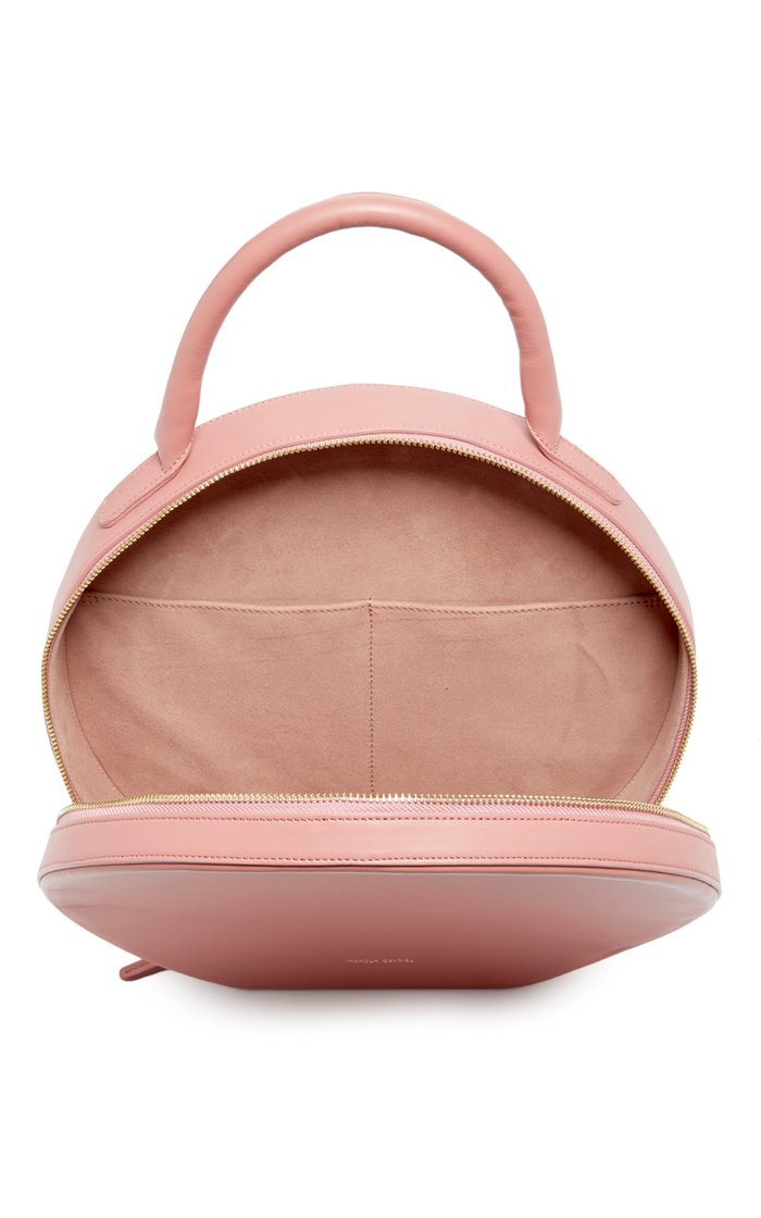 Pink Leather Circle Bag