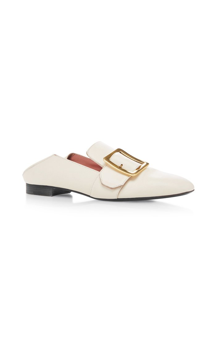 Janelle Leather Slippers