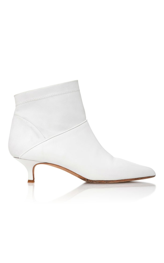 Jean Leather Ankle Boots