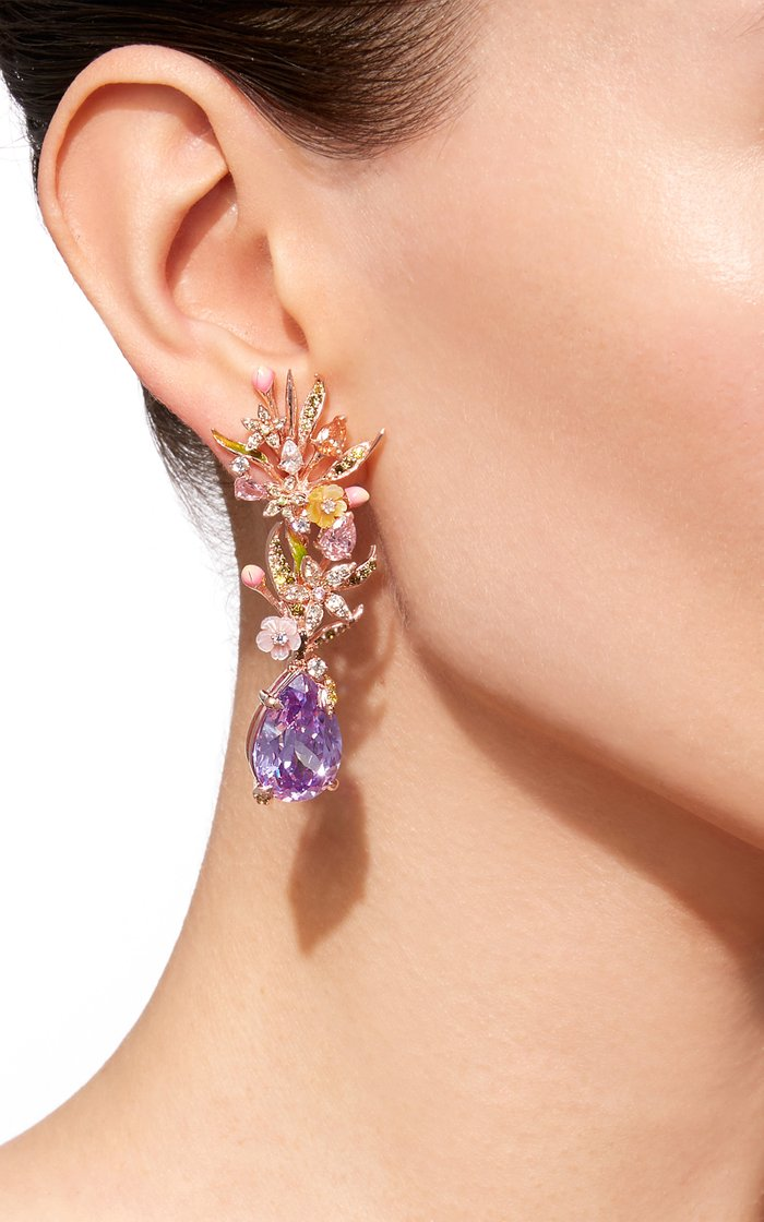 M'O Exclusive: Posie Lilac Earrings