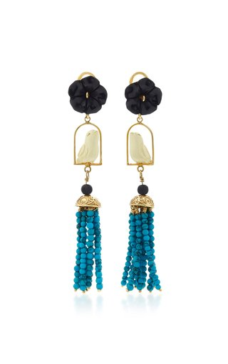 Swinger 18K Gold Multi-Stone Earrings