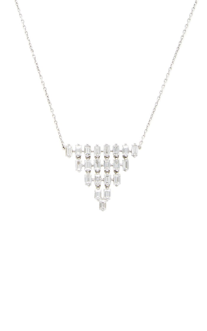 Baguette 5 Row Triangle Necklace