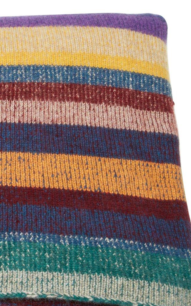 Patterned Cashmere Blanket