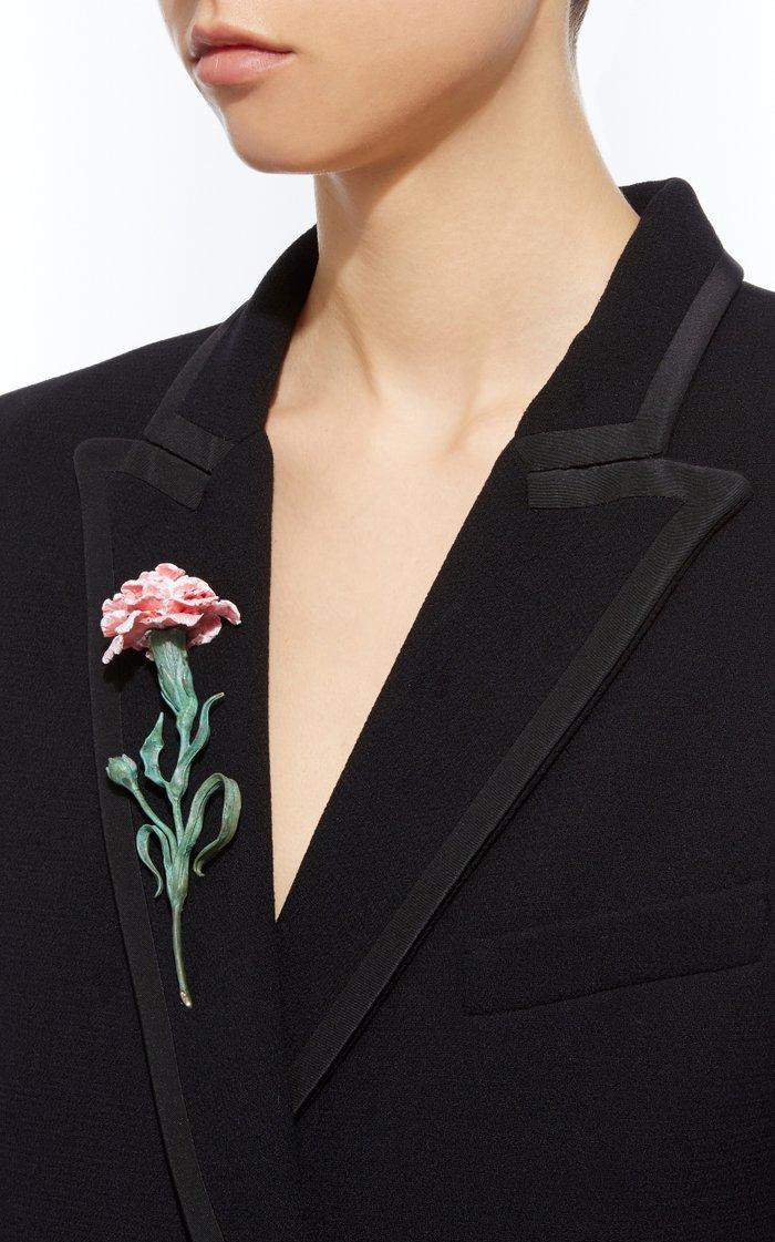 Pink Carnation Brooch