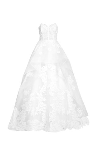 The Adeline Floral-Embroidered Gown