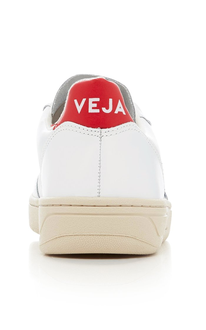 V10 Nautico Leather Sneakers