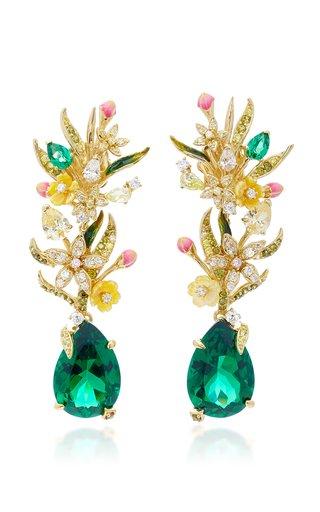 Exclusive Posie 18K Yellow Gold Multi-Stone Earrings