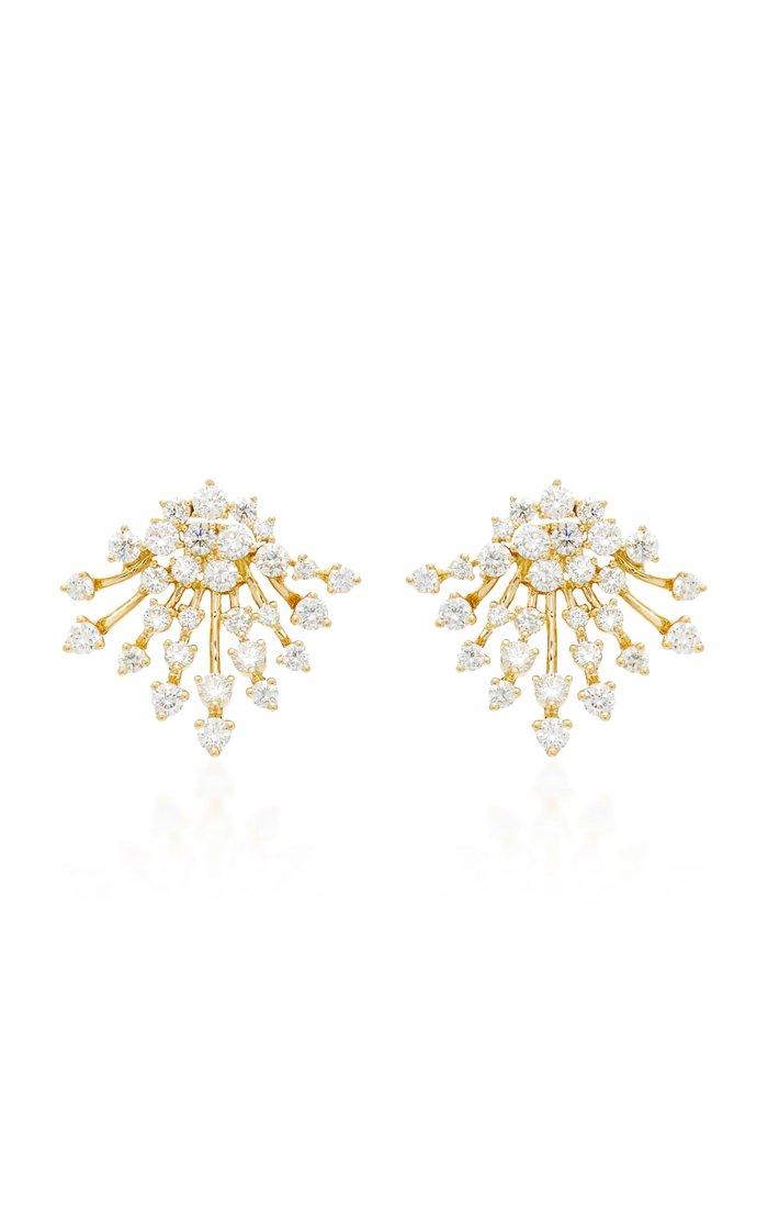 Labyrinth 18K Gold Diamond Earrings