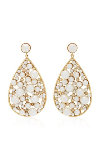 Yellow Gold Large Teardrop Earrings