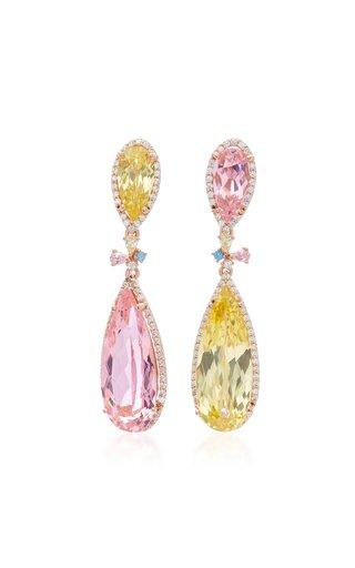18K Yellow Gold Vermeil Multi-Stone Earrings